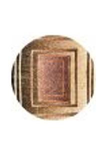 Tapete Marbella Botticelli Redondo (100X100Cm) Preto E Creme