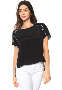 Camiseta Forum Bicolor Preta