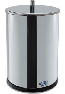 Lixeira Aço Inox Decorline 32Cm 7,8L Brinox 3030/203