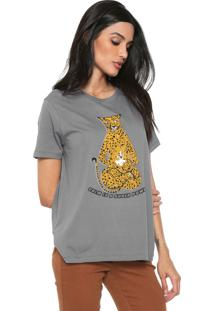 Blusa Dzarm Leopardo Cinza