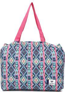 Bolsa Roxy Pasadena Azul/Rosa