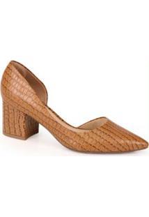 Sapato Scarpin Bruna Rocha Caramelo