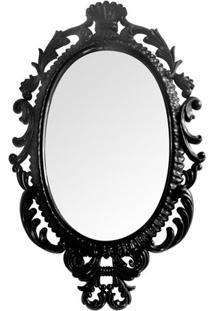 Espelho Oval Giant Princess- Espelhado & Preto- 73X4Btc Decor