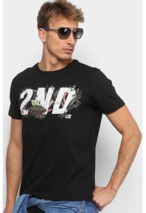 Camiseta Ellus 2Nd Floor Estampada Tropical Masculina - Masculino