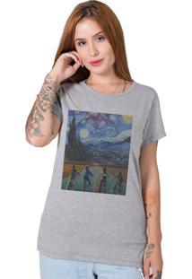 Camiseta Stranger Things X Van Gogh Cinza Stoned - Cinza - Feminino - Algodã£O - Dafiti