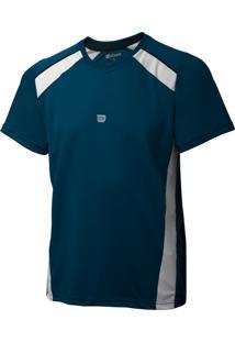 Camiseta Wilson Tour M Marinho E Branco