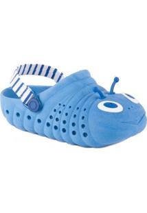 Sandália Pé Com Pé - Feminino-Azul