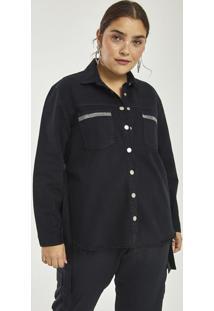 56c14ab0651d97 Camisa Sarja Com Brilho Curve & Plus Size