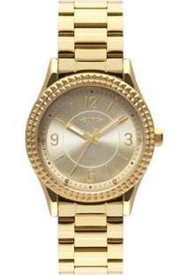 Relógio Euro Aro Spikes Feminino - Feminino-Dourado