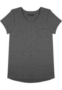 Blusa Com Bolso Rovitex Premium - Feminino-Cinza