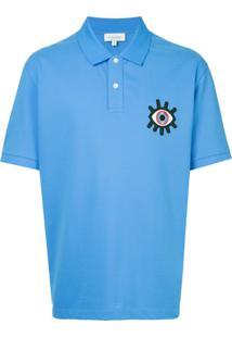 914f7072c9 ... Ck Calvin Klein Camisa Polo Com Detalhe Bordado - Azul