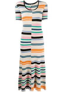 Kenzo Striped Knitted Dress - Neutro