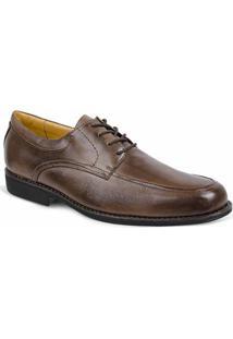 Sapato Social Masculino Derby Sandro & Co Jullino - Masculino-Marrom Escuro