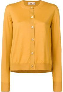 Marni Cardigan Gola Careca - Amarelo