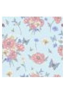 Papel De Parede Autocolante Rolo 0,58 X 5M - Flores Borboletas Abelhas 285425525