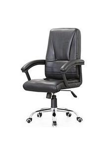 Cadeira Office Bristol Courissimo Preto Base Cromada - 56323 Preto