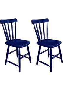 Conjunto Com 2 Cadeiras Espanha Azul