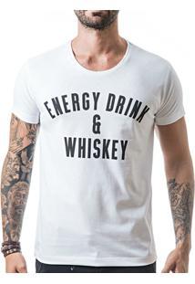 Camiseta T-Shirt Liferock Energy Drink - Masculino-Branco