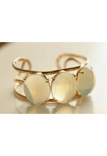 Bracelete 03 Pedras Pedra Da Lua Twik