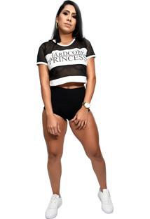 Blusa Telinha Hardcore Line Princess Preta