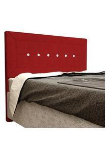 Cabeceira Vegas Cama Box Queen 160 Cm Suede Vermelho D'Rossi