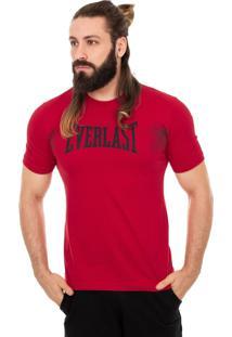 Camiseta Everlast Textura Grade Vermelho