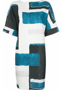 Natori Vestido Reto Com Recortes - Azul