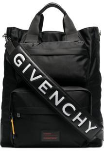 Givenchy Bolsa Tote Oversized Com Logo - Preto