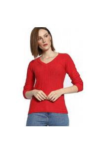Blusa Bon Tricot Vermelho