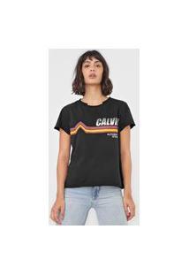 Blusa Calvin Klein Jeans Authentic Preta