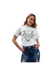 Camiseta Feminina Mirat Universo Nas Maos Branco