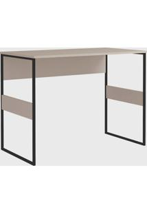 Mesa Office Madrid 100Cm Metallic Suede Zaile Emobilia