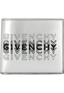 Givenchy Carteira Dobrável Com Logo - Prateado