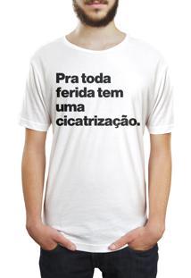 Camiseta Hunter Pra Toda Ferida, Tem Uma Cicatrização Branca