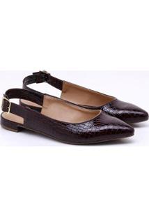 Sapatilha Charlote Shoes Croco Ii - Feminino-Bordô