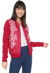 Jaqueta Bomber Malwee Estampada Pink