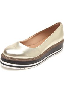 Sapatilha Dafiti Shoes Flatform Dourada
