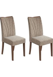 Conjunto Com 2 Cadeiras Apogeu Ll Imbuia E Bege