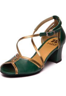 Sandalia Feminina Greta - Esmeralda / Bronze 7835