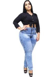 Calça Jeans Latitude Plus Size Sulamitha Feminina - Feminino