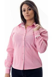 Camisa Pimenta Rosada Da Poá Danny - Feminino-Rosa+Branco