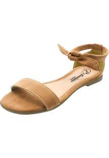 Sandália Rasteira Romântica Calçados Caramelo - Kanui