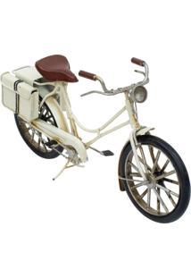 Enfeite Retrô Minas De Presentes Bicicleta Branco