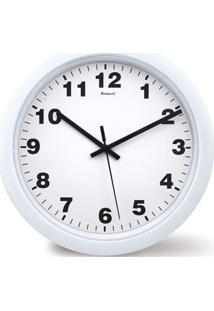 209b6de453b ... Relógio De Parede Em Plástico Redondo 30Cm Branco