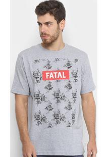 Camiseta Fatal Flores Masculina - Masculino