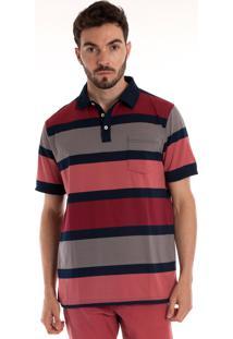 Camisa Polo Konciny Manga Curta Coral