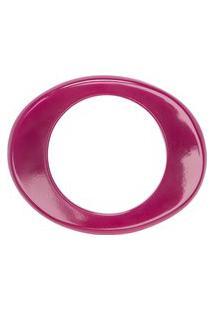 Pulseira Resina Oval Maravilha Amanhecer - Roxo