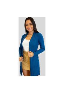 Cardigan Tricot Linda Moça Exclusive Azul