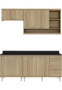 Cozinha Compacta Multimóveis Sicília 5811.132.132.610 Argila Se