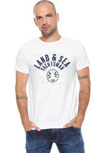 Camiseta Yachtsman Estampada Branca